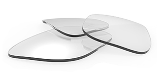 three clear rectangular lenses