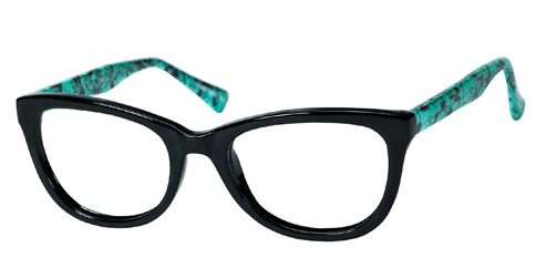 Casino Cora - Black/Teal